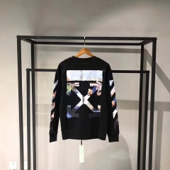 [No.208] OFF OW Oil Painting Logo Crewneck Sweatshirt