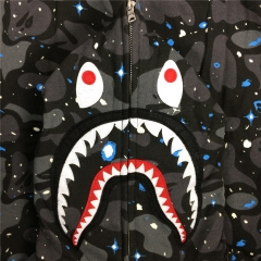 [NO.987]Bape SPACE GALAXY CAMO SHARK HOODIE
