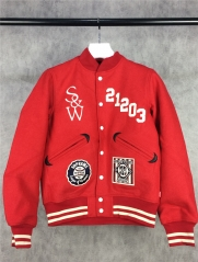 [NO.127]【S】Sup x Wtaps 09FW Varsity Wool Jacket double wear navy blue red