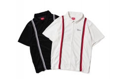 Free Shipping Sup 18SS Velour Warm Up White Black