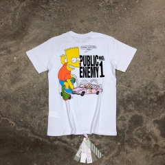 Free Shipping Off-White x Simpson Public Enemy Tee White