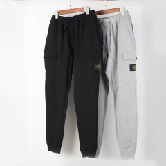 Free shipping Stone lsland Logo Jogging pants black grey
