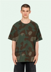 FREE SHIPPING OFF OW WHITE CAMO PRINT T-SHIRT