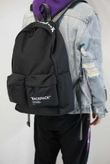 Off-white Letter Backpack Black