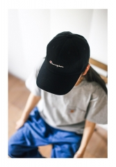 Free shipping Real Ch*mpion Classic Logo Cap black white