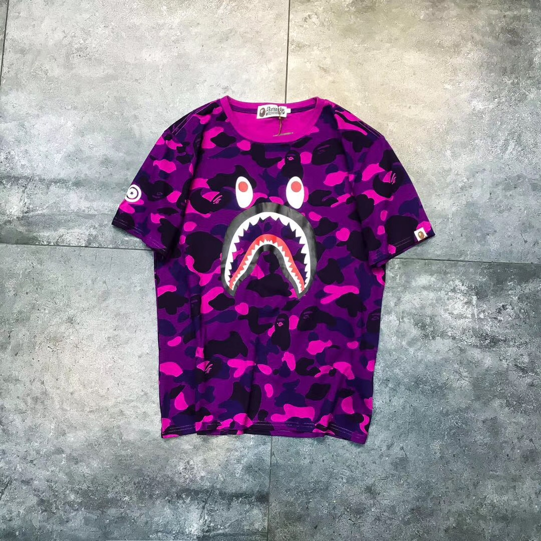 Free shipping Shark Face T-Shirt 4 colors