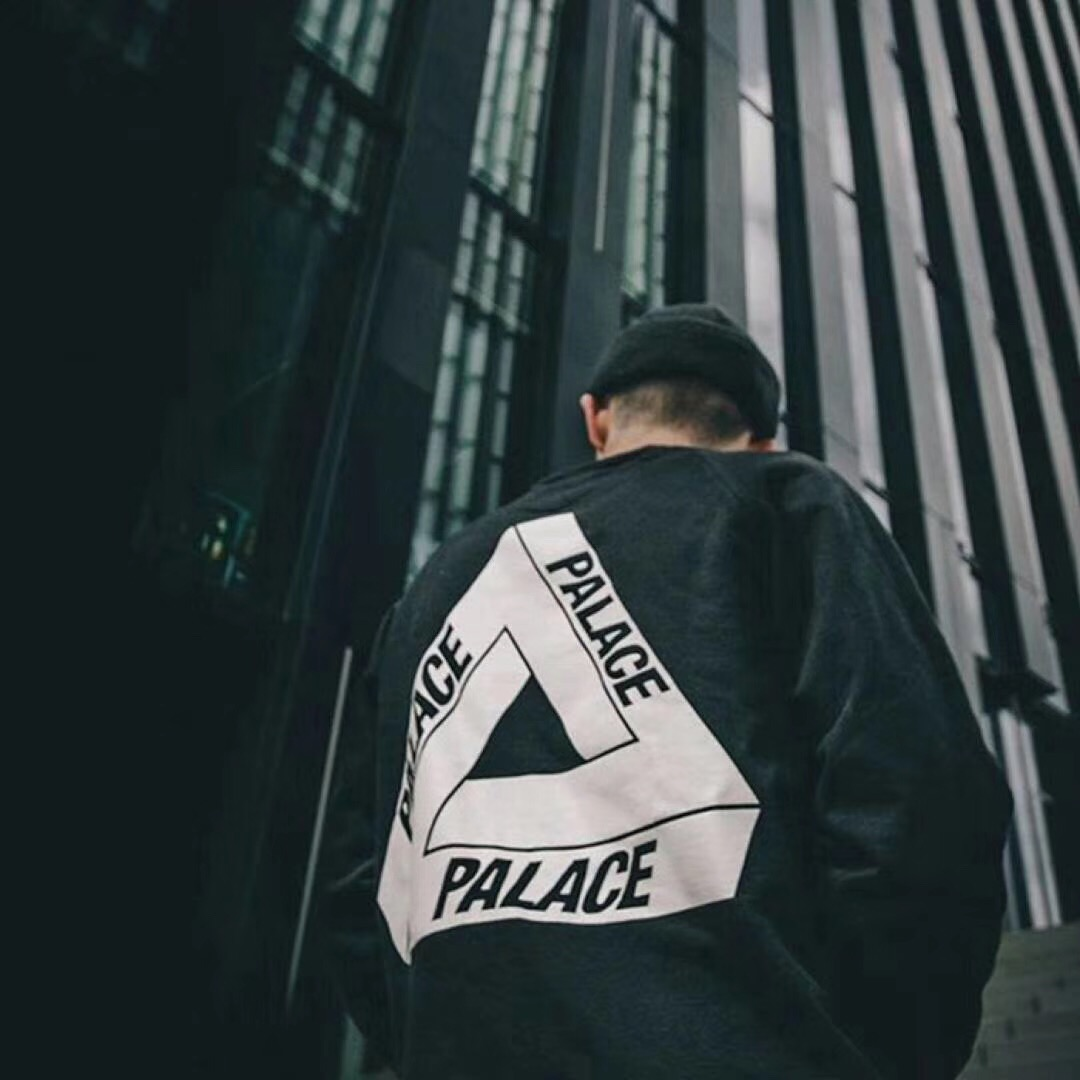 Palace 18FW Crewneck Sweatshirt Black White