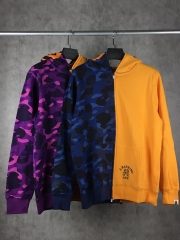 Bape Shark Tiger Zipper up hoodie blue purple