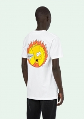 Free shipping Off-white Simpson Fire Tee white