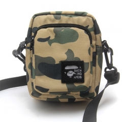 Free shipping Bape Classic Logo Magic Sticks Camo Shoulder bag