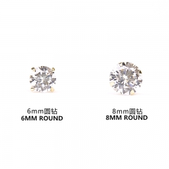 Free Shipping 10K Gold claw Zircon Earrings