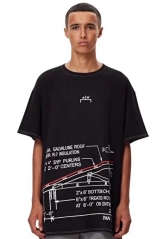 Free shipping A Cold Wall Geometry Tee black