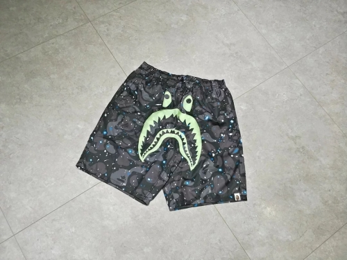 Bape Space Camo Shark Shorts glow in the dark