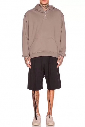 Free shipping Fear of God Ribbon Cotton Shorts black grey