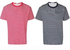 Free shipping Stone lsland 19ss Small Logo Stripe tee 2 colors