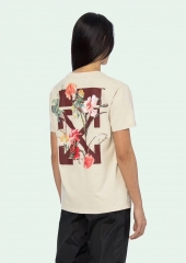 Free shipping Off-white 19FW20SS Flowers Tee