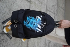 Off-white 2019 Blue Fire Backpack