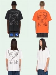 Free shipping Off-white 19SS abstract arrows knitted tee