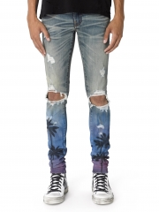 Amiri NIGHT PALM THRASHER JEAN CLASSIC INDIGOV