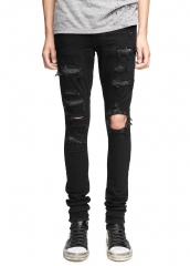 Amiri CRYSTAL DESTROY JEAN BLACK