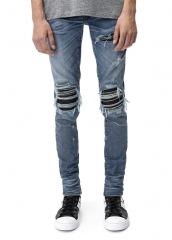 Amiri MX1 LEATHER PATCH JEAN CLASSIC INDIGO