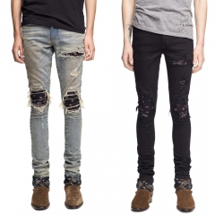 Amiri MX1 CHARCOAL BANDANA JEAN DIRTY 2 colors