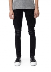 Amiri MX1 DENIM CARGO BLACK