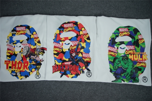 [Normal Version] Free Shipping Bape x MARVEL COMIC T-Shirts