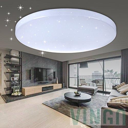 60W LED Deckenleuchte Wohnzimmerlampe Kaltweiß Rund Wandleuchte ...