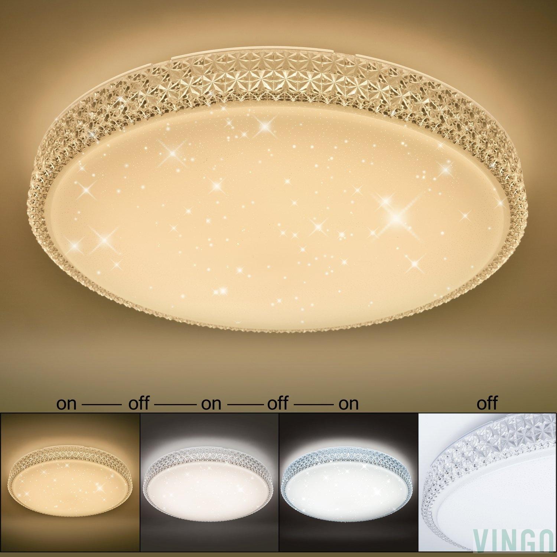60W LED Deckenleuchte Starlight-Design Wandlampe Wohnraum ...
