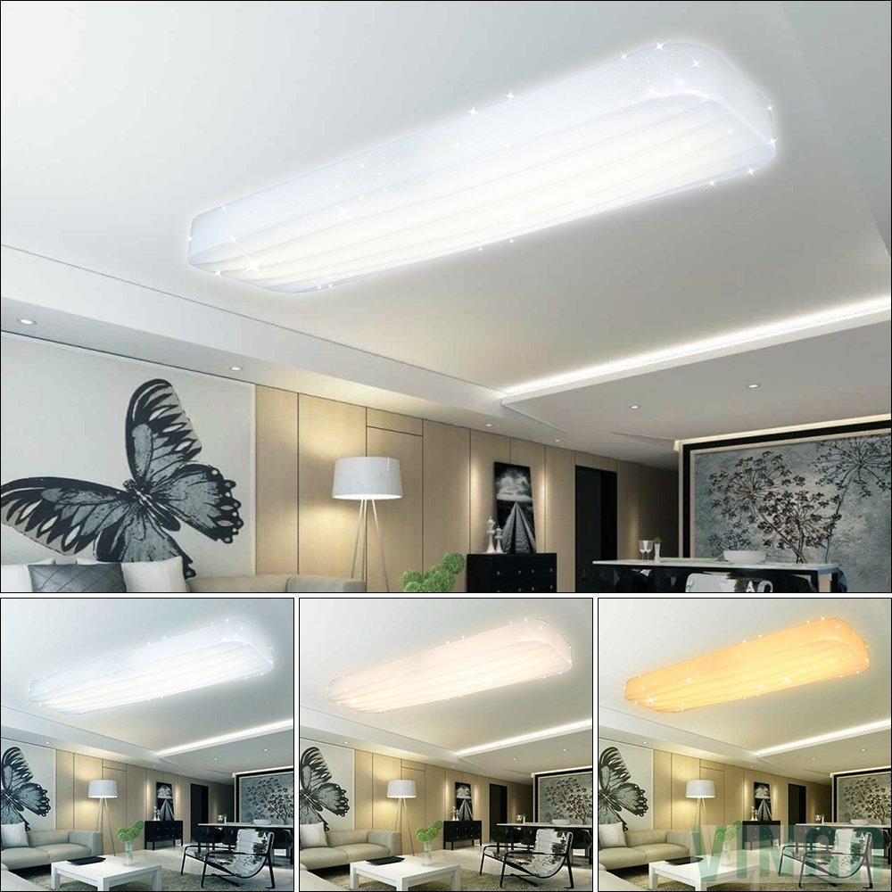 30W Wellig LED Deckenleuchte Starlight Effekt Wohnzimmer Deckenlampe ...