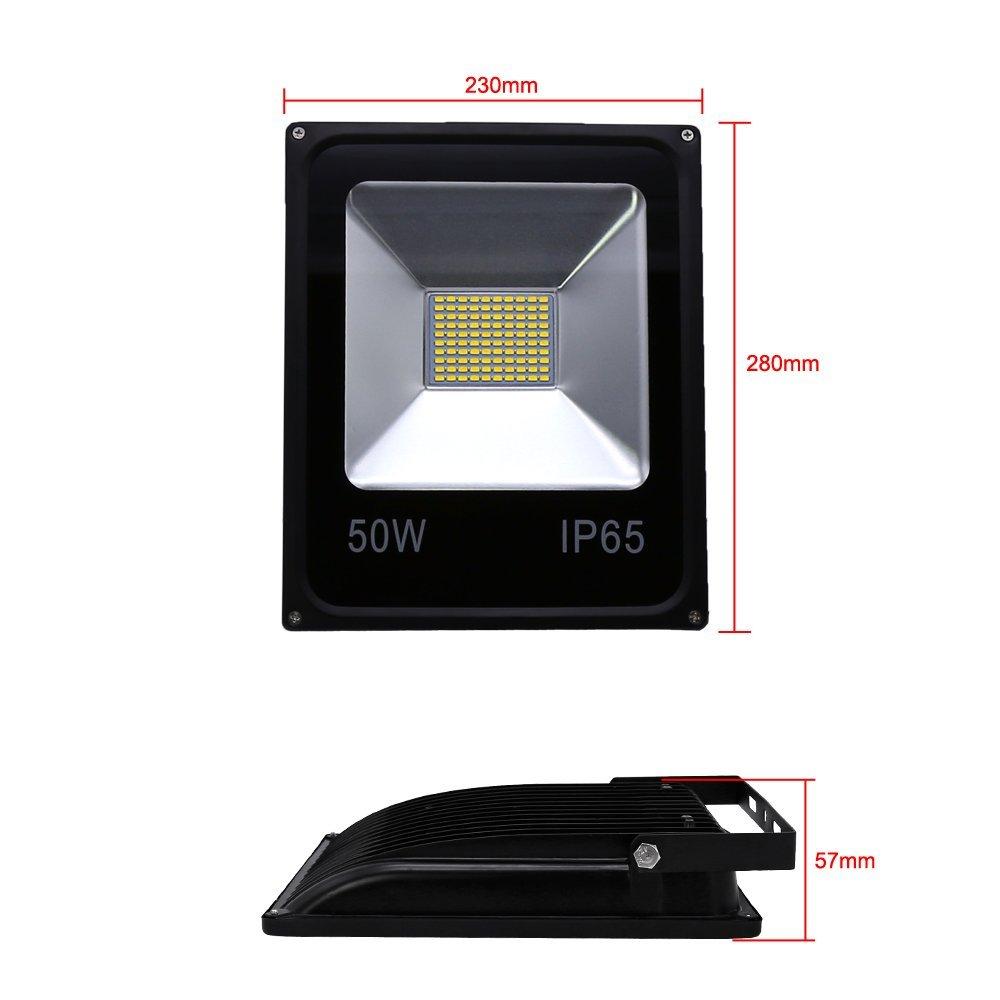 VINGO/® 50W Smd LED Fluter Au/ßen Flutlicht Strahler Scheinwerfer IP65 Warmwei/ß