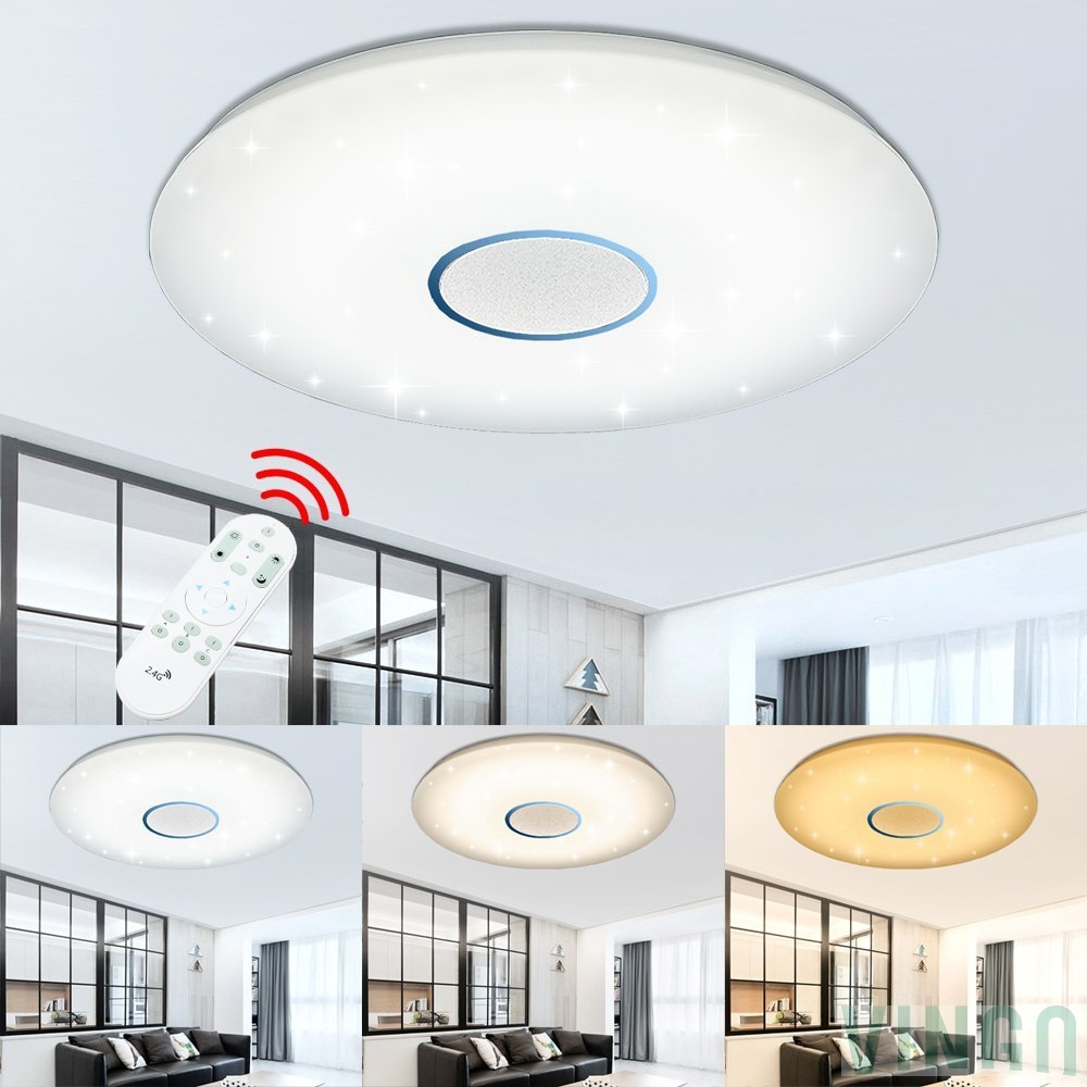 100w Led Ceiling Light Starlight Crystal Sand Dimmable Living Room Lighting Hallway Bathroom Lamp Beautiful