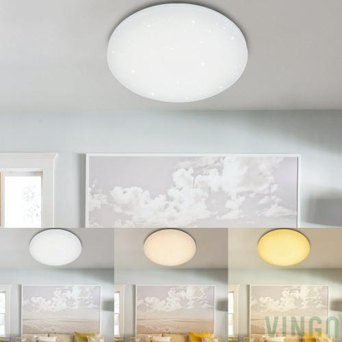 vingo 50w led deckenleuchte dimmbar sternenhimmel rund deckenlampe wand deckenleuchte badlampe. Black Bedroom Furniture Sets. Home Design Ideas