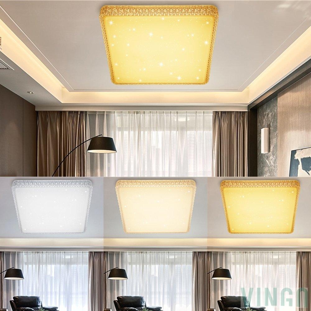 Vingo 60w led deckenlampe dimmbar starlight effekt deckenbeleuchtung wohnzimmer wandlampe - Deckenbeleuchtung wohnzimmer led ...