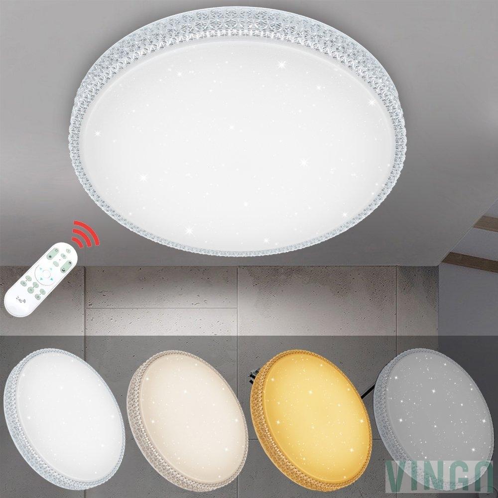 VINGO 60W LED Deckenleuchte Dimmbar Starlight-Design Wandlampe ...
