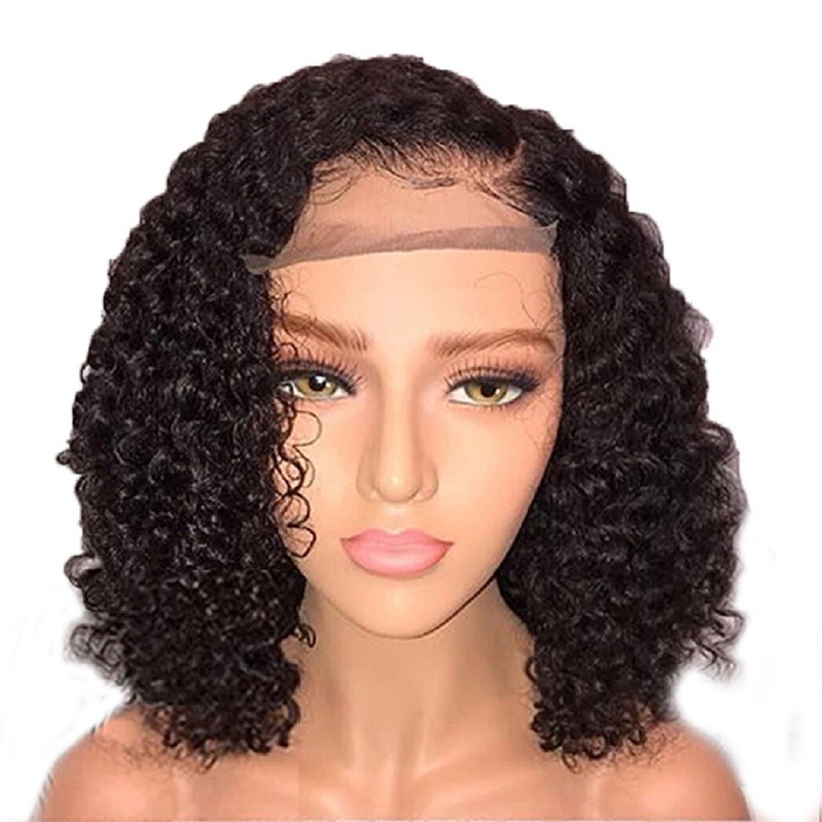 Lace Wigs Beeos 360 Lace Frontal Wig Pre Plucked With Baby Hair Brazilian Remy Curly Lace Front Human Hair Wigs For Women Pre Plucked
