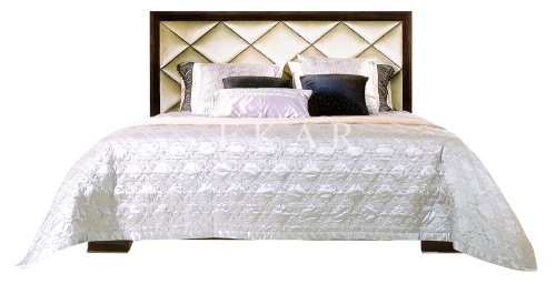 Emily Brown and White ,Wooden and Fabric ,Bedroom Bed Frame