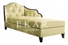 Contemporary Living Room Indoor Beige Upholstry Chaise Lounge