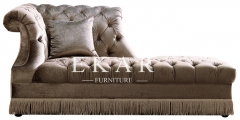 Modern Grey Indoor Tufted Indoor Furniture   Chaise Lounge Sofa
