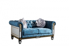 Chesterfield Navy Blue Tufted Sofa