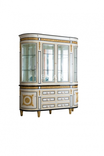 Large glass for home dining room howcase cabinet display