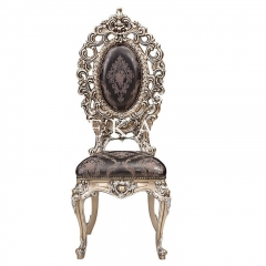 Antique Baroque Design Fabric Dining Chair Sale
