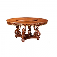 Baroque Round Wooden Dining Table
