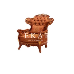 Luxury Wooden With Fabric Sofa Chair Leisure Chair