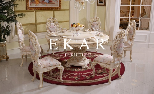 Classical Round Wooden Circular Dining Table