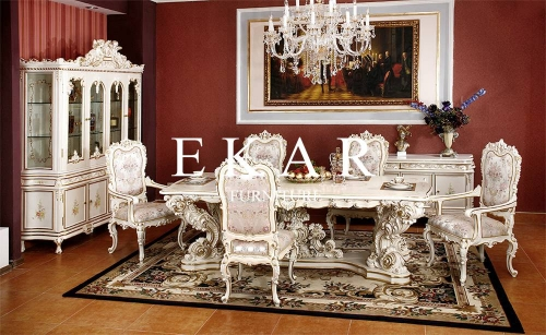 High End Classical Wooden Carved Dining Table