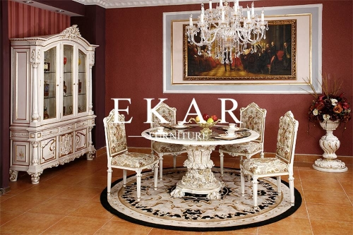 Baroque Luxury One Leg Dining Table