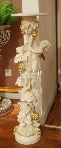 Luxury Royal Style Wooden Flower Stand Holder