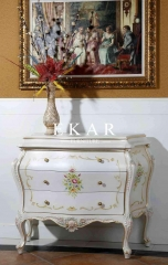 Ivory Hand Carved With Flower Patterns Chest Bedroom Cabinet